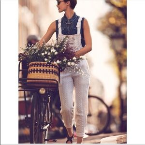 Free People Jeans - FREE PEOPLE Straight Eyelet Overall